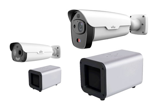 multi-body thermal body temperature camera system UNV TIC-2221 & TIC-2531
