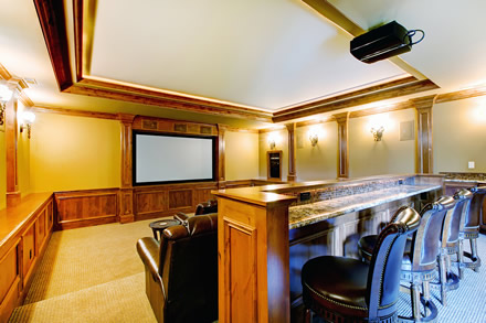 home theater bar seating